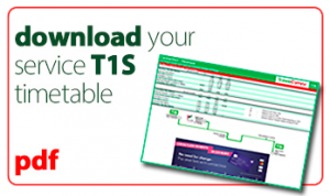 download your t1s service timetable icon