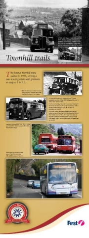 first bus history town hill trails information leaflet
