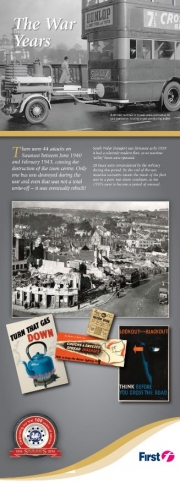 first bus history the war years information leaflet