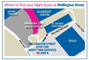 where to find night buses wellington street swansea first bus