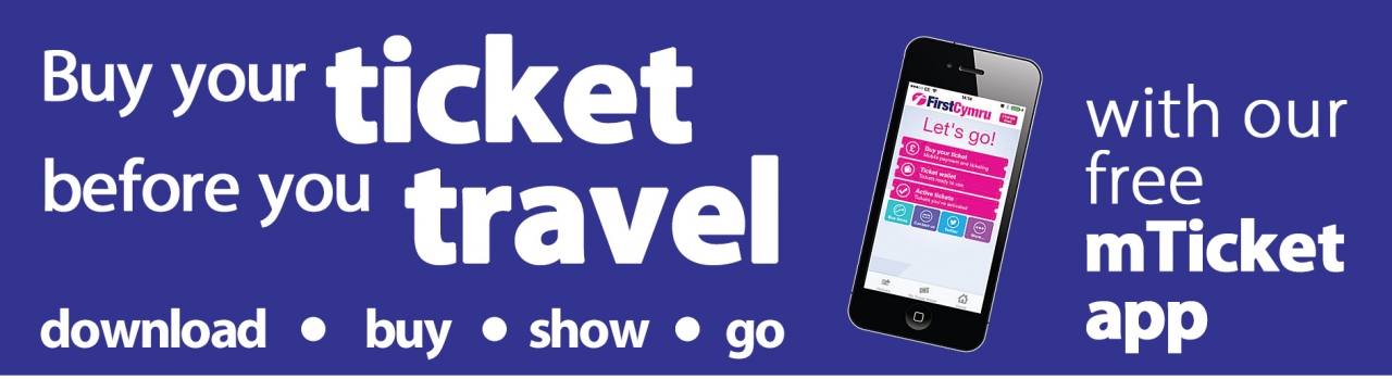 first cymru buy your ticket before you travel mtickets app banner