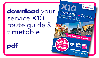 download your service x10 route guide timetable download icon
