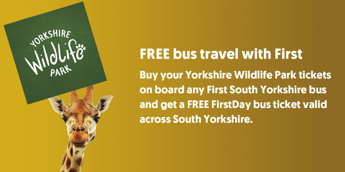Yorkshire Wildlife park free travel with First Bus