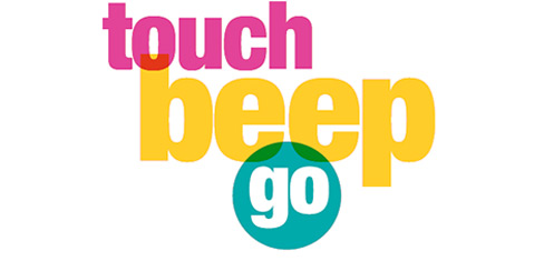 touch beep go text banner