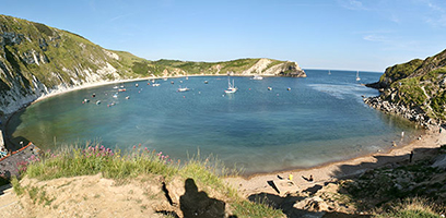 Relax and enjoy the beautiful scenery at Lulworth Cove from the land or sea!