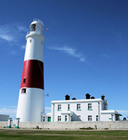 Portland Bill lighthouse and visitor centre awaits you