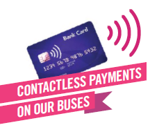 first contactless payments on our buses logo