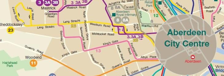 Aberdeen Network Map October 2019
