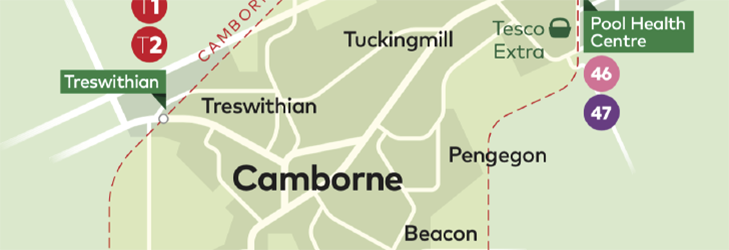 Town Zone Map - Camborne