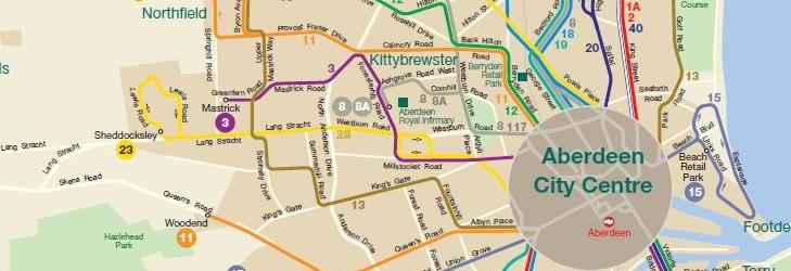 Network maps Aberdeen First UK Bus