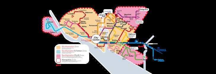 Southampton Ticket Zones