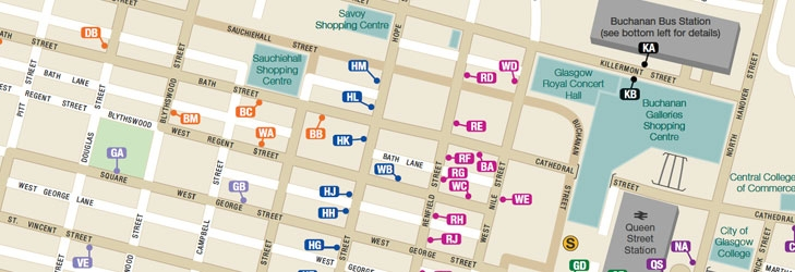 Greater glasgow greater glasgow first bus route maps network maps sciox Gallery