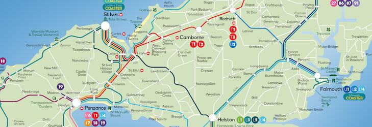 Kernow network map summer 2021