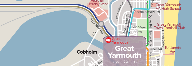 Great Yarmouth & Gorleston Town Services - from 22nd September 2019