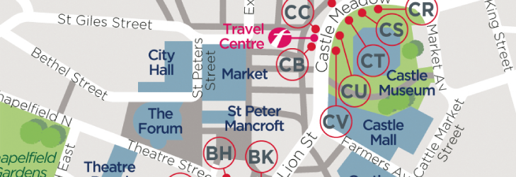 Where to catch your bus in Norwich City Centre