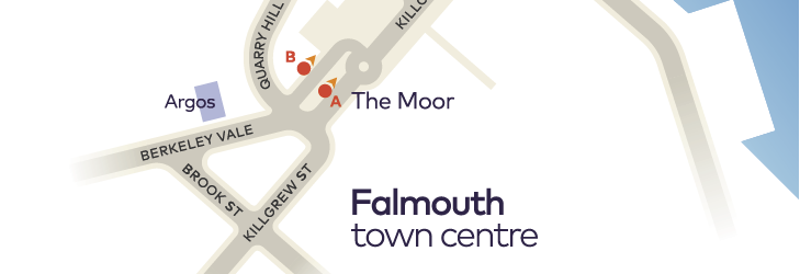 Where to catch your bus in Falmouth