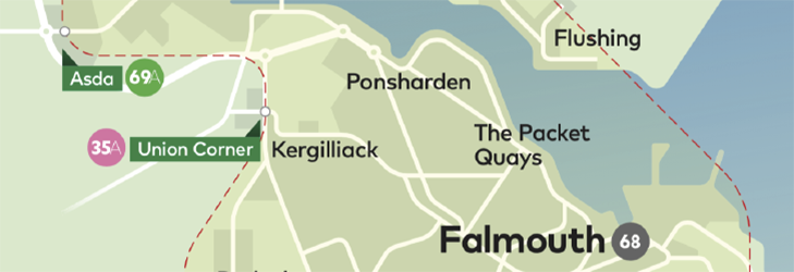 Town Zone Map - Falmouth & Penryn
