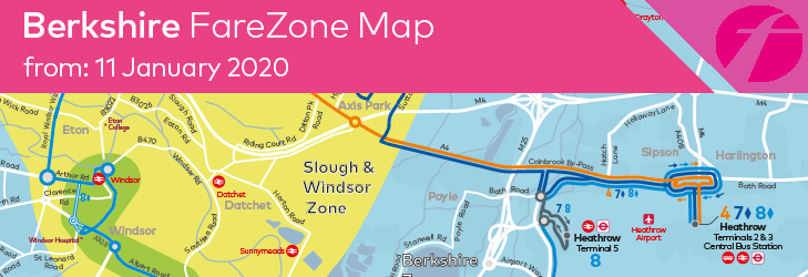 Berkshire FareZone Map - Valid from 11 January 2020