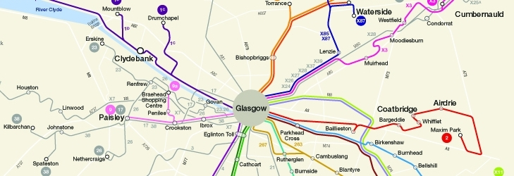 Glasgow Inter-Urban map 2021