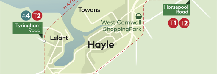 Town Zone Map - Hayle