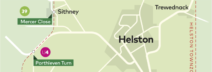 Town Zone Map - Helston