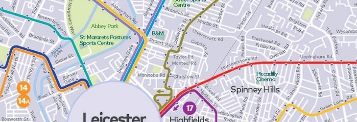 Leicester Network Map