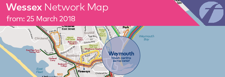 Summer 2018 - Wessex Network Map - valid from 25 March 2018