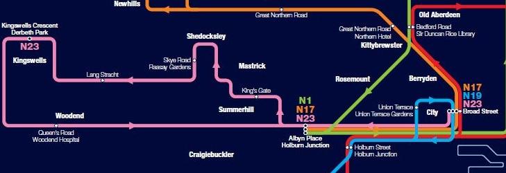 Night Bus Network Map