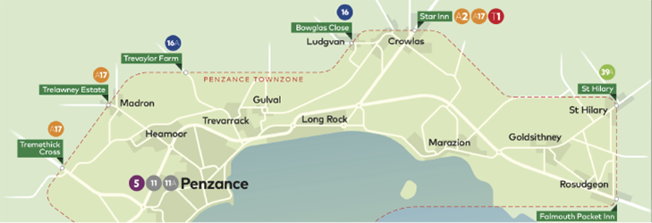 Town Zone Map - Penzance