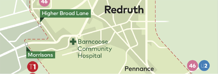 Town Zone Map - Redruth
