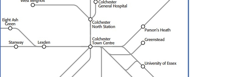 Map of Inner and Outer zones in Colchester