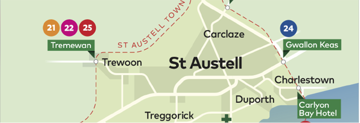 Town Zone Map - St Austell