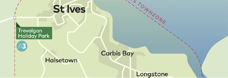 Town Zone Map - St Ives