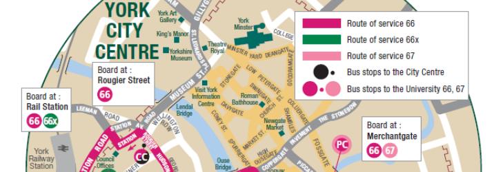 University services city centre map