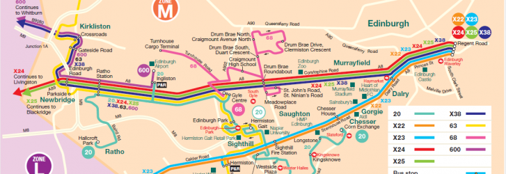 Zone M Edinburgh Map