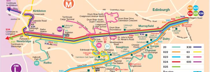 Zone M Edinburgh Map