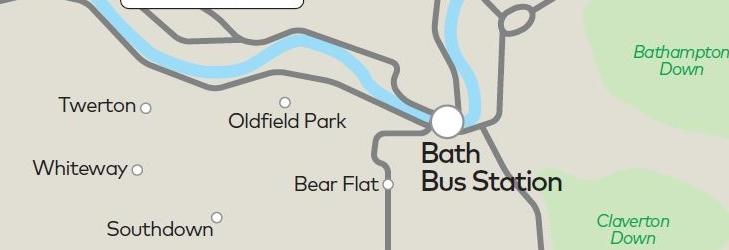 Bath Fare Zone Map