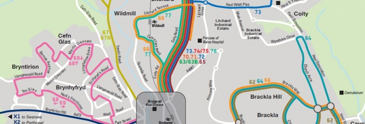 Bridgend Network Map