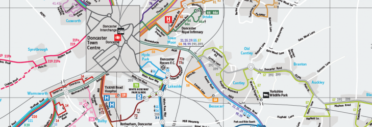 Network maps South Yorkshire First UK Bus