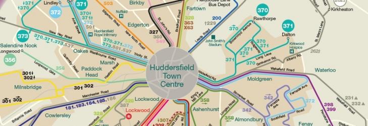 Huddersfield Area Network Map