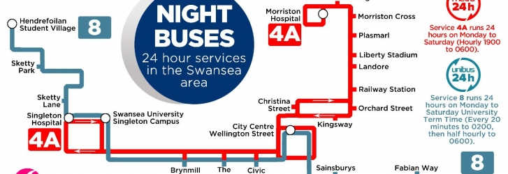 Night services in Swansea