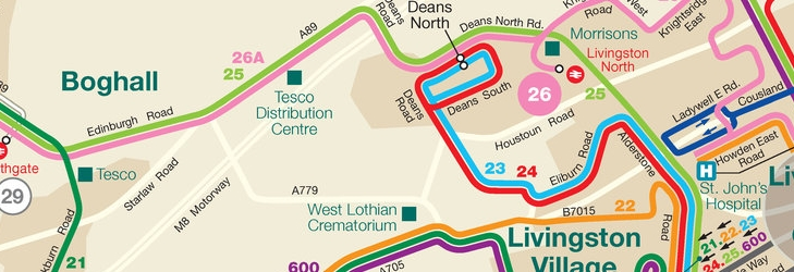 West Lothian Network Map