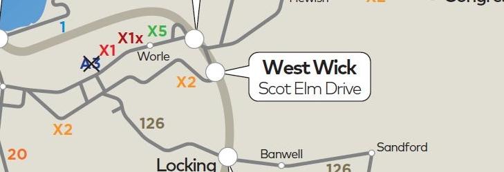 Weston-super-Mare Network Map