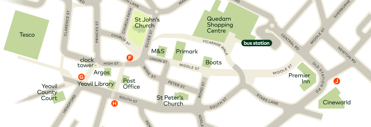 where to catch your bus in Yeovil town centre