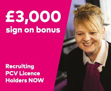 £3,000 sign on bonus for PCV Licence Holders