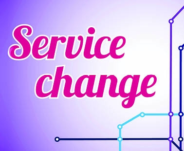 April Service Changes