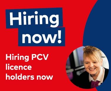 We're Hiring PCV Licence holders