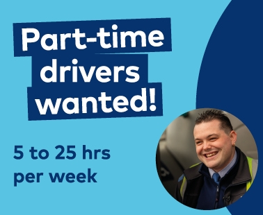 We're Hiring Part-Time Drivers