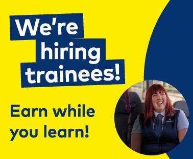 We're hiring trainee drivers!