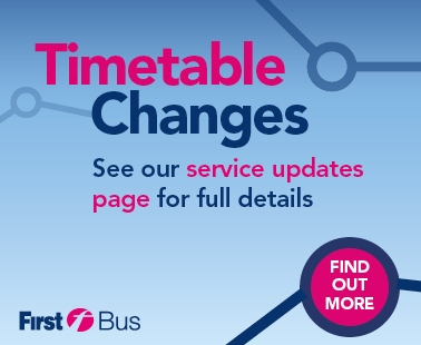July timetable changes. see our service updates page for full details. find out more.